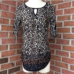 NWT PerSeption leopard print tunic